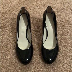 Nine West, Sz 5, Black Patent Leather Heels